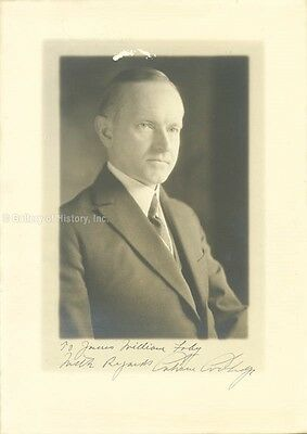 calvin coolidge  inscribed photograph signed