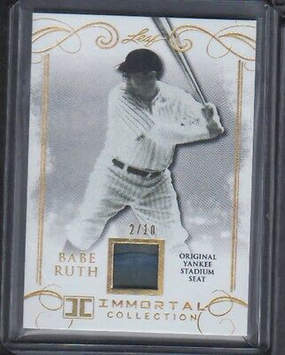 2017 Leaf Gold Immortal Collection Babe Ruth Yankee Stadium Seat 2/10