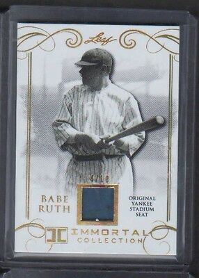 2017 Leaf Gold Immortal Collection Babe Ruth Yankee Stadium Seat 4/10