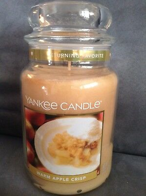 Yankee Candle Warm Apple Crisp 22 Oz Jar Candle - Rare - Brand New