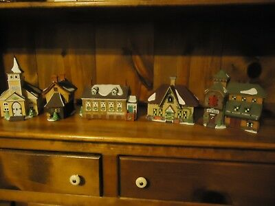 Lot Of Dept 56 New England Heritage Village Collection(28) + Accessories Appr70