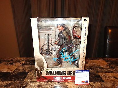 "Norman Reedus Signed Walking Dead Daryl Dixon 10"" Deluxe Action Figure Photo Psa"