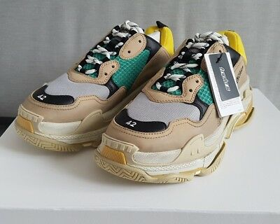 Balenciaga Triple S Yellow And Green Trainers Sneakers Eu 39, 41, 42, 43, 44, 45