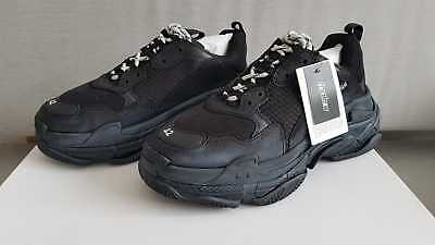 Balenciaga Triple S Black Distressed Sneakers Eu 39, 40, 41, 42, 43, 44, 45