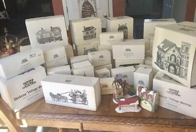 Lot Of 35 Heritage Village Collection Dept 56 Dickens