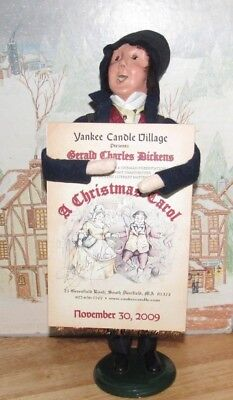 Byers Choice Exclusive Yankee Candle Dickens Christmas Carol Sign Board Man 2009