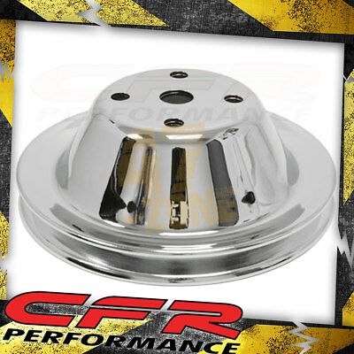 1969-85 Chevy Small Block Chrome Steel Water Pump Pulley - Long (1 Groove)