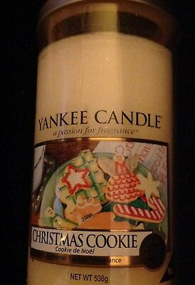 Yankee Candle Christmas Cookie Scented Large Pillar Vase Candle Very Rare
