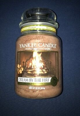 Yankee Candle Dream By The Fire Large Jar 22 Oz Candle Brand New! Hard To Find