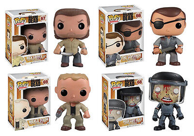 Funko Pop Television The Walking Dead Series 3 All 4 New Vinyl Figures In Stock