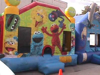 Sesame Street Bounce House - Full Size Inflatable - Pick Up Only - In-il-ky