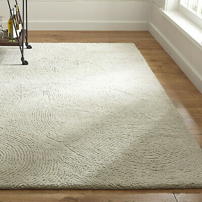 Area Rugs Alfredo Ivory All Size Hand Tufted Crate & Barrel Soft Woolen Carpet