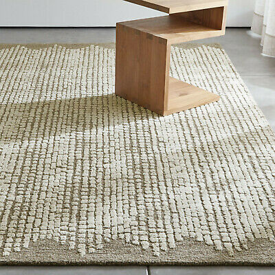 Area Rugs Clea Textured All Size Hand Tufted Crate & Barrel Soft Woolen Carpet
