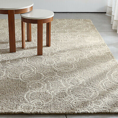 Area Rugs Obi Neutral Circle Pattern Crate & Barrel All Size Hand Tufted Carpets