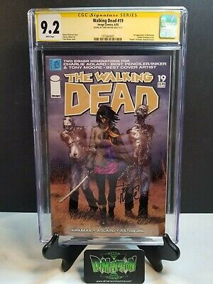 The Walking Dead #19 Cgc Ss 9.2 Signed By Tony Moore 1st Appearance Michonne Nm