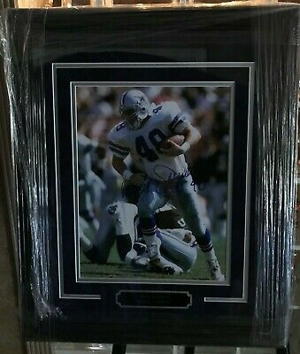 Daryl Johnston Dallas Cowboys Autographed Picture Custom Framed