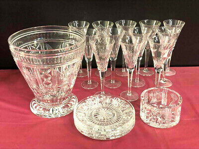 Waterford Crystal Millennium Collection 5-toast Flutes Signed/dated  2 Each Of 6