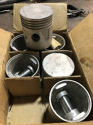 """Dodge Plymouth Chrysler Power Wagon M37 Flathead 218 230 .040"""" Pistons And Rings"""