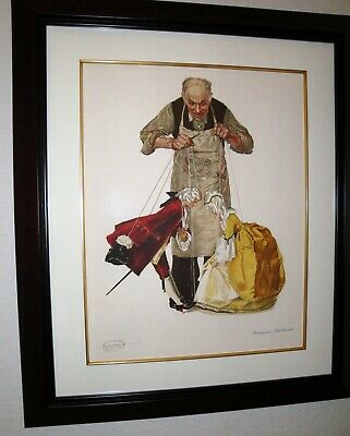 Norman Rockwell Signed –the Puppeteer - Ltd Edition Lithograph Estate Gold Stamp