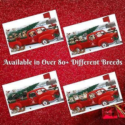 Christmas Santa Express Delivery Red Truck Mailbox Cover, Dogs, Cats, Pet