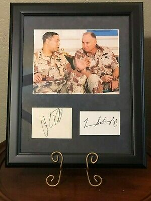 General Colin Powell & Norman Schwarzkopf Desert Storm Signed Autograph Photo