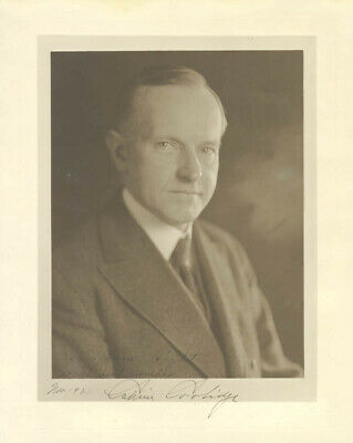 calvin coolidge  inscribed photograph signed 11/1921