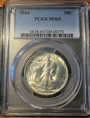 1943 Walking Liberty Half Pcgs Ms65 - High Quality Scans #8170