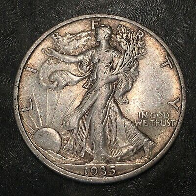1935-s Walking Liberty Half Dollar - Totally Original - High Quality Scans #h956