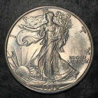 1936-s Walking Liberty Half - Nearly Uncirculated - High Quality Scans #h887