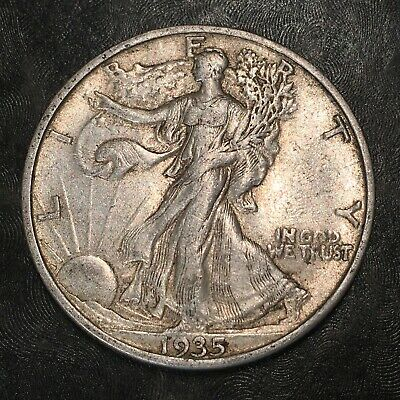 1935-s Walking Liberty Half Dollar - Totally Original - High Quality Scans #h955