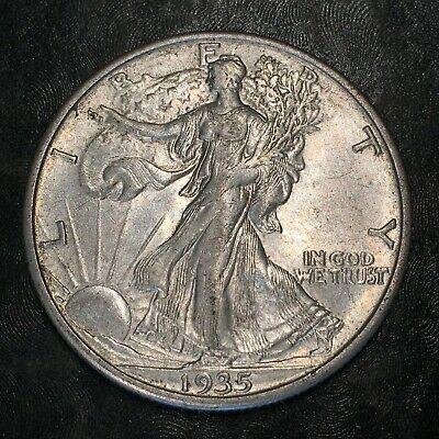 1935-s Walking Liberty Half Dollar - Totally Original -high Quality Scans #h973