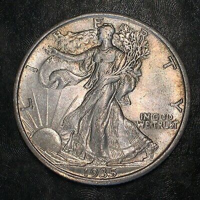 1935-s Walking Liberty Half Dollar - Totally Original -high Quality Scans #h975