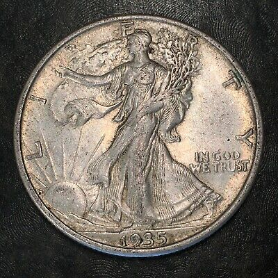 1935-s Walking Liberty Half Dollar - Totally Original -high Quality Scans #h964