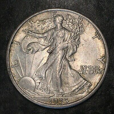 1935-s Walking Liberty Half Dollar - Totally Original -high Quality Scans #h968