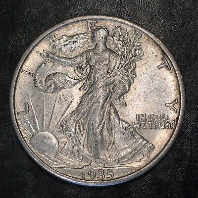 1935-s Walking Liberty Half Dollar - Totally Original -high Quality Scans #h971