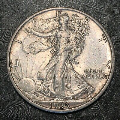 1935-s Walking Liberty Half Dollar Totally Original - High Quality Scans #h905