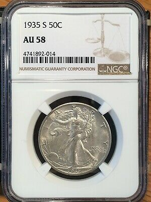 1935-s Walking Liberty Half - Ngc  Au 58 - High Quality Scans #2014