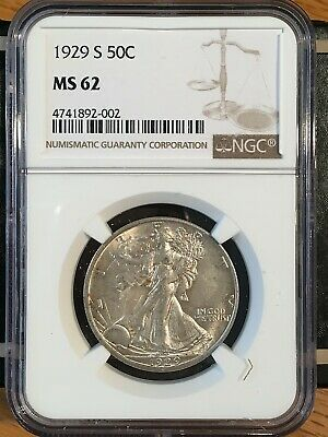1929-s Walking Liberty Half - Ngc  Ms 62 - High Quality Scans #2002