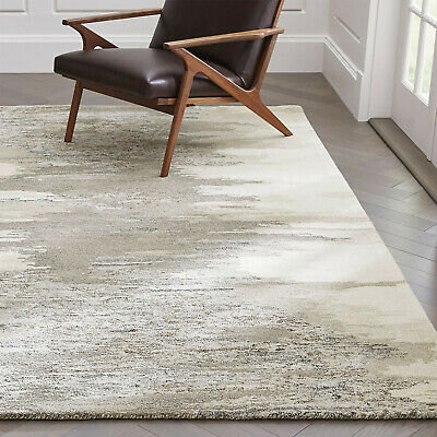 Area Rugs Birch Netural Wool-blend Abstract Hand Tufted Crate & Barrel Carpet
