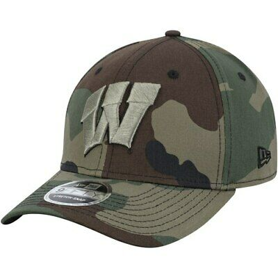 Wisconsin Badgers New Era Woodland Camo 9fifty Stretch Snap Adjustable Hat -