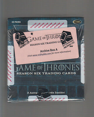 Game Of Thrones  - Season 6  - Factory Sealed Archive Box