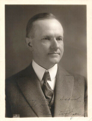 calvin coolidge  autographed inscribed photograph