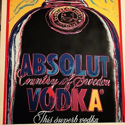 """Andy Warhol """"absolut"""" Print Edition Signed In Plate"""