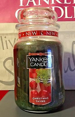 * Yankee Candle * Christmas Thyme *  22 Oz. ~  Sold Out
