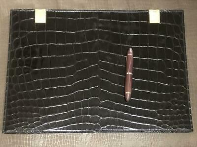 Marius Patte Crocodile Sketch Book Alligator Leather Stationery Japan Rare254/mt