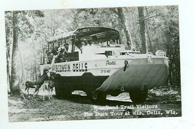 """The Duck """"patty"""", Woodland Tour, Wisconsin Dells, Wisconsin (real Photo)wis107"""