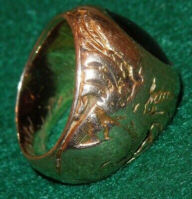 Class Of 1926 Usma West Point Lieutenant General 14k Gold Ring & Photo 20.4 Gms