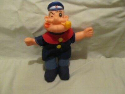 "Vintage Uneeda Popeye The Sailor Man Plush Doll 8""  1979 / Free Shipping"