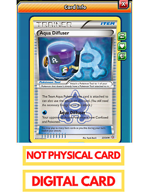 Team Aqua Diffuser Pokemon TCG Online (ptcgo in Game Digital Card) Double Crisis