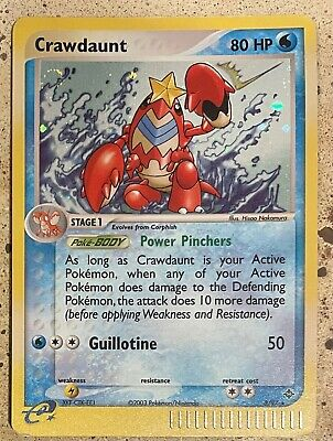 2003 Crawdaunt 3/97 EX Dragon HOLO RARE Pokemon Card LP See Pics